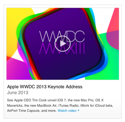 Apple - Apple Events - WWDC 2013 Keynote